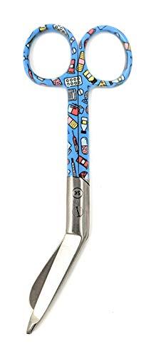 individuelle wertige Lister Verbandschere komplett aus rostfreiem Stahl, ca. 14,5cm (Medical)