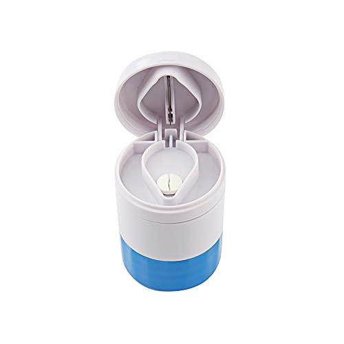 IKAAR Tablettenteiler Tablettenmörser Tablettenzerkleinerer mit Vorratsfach 4-in-1 Multifunktionale...