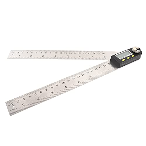 PBOHUZ Winkelmesser -200 mm Edelstahl LCD Digitaler Winkelmesser Goniometer Gauge Elektronischer...
