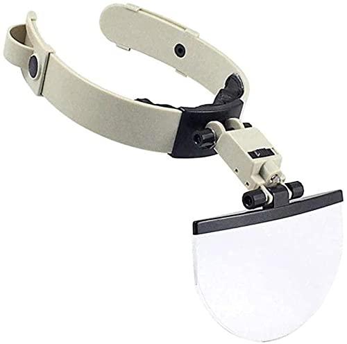 dh-7 Beleuchtete Kopflupen mit leichtem Stirnband Lupe 4 austauschbar