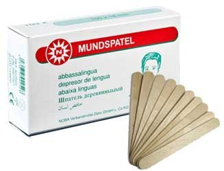Mundspatel Holz Holzmundspatel 15cm unsteril 1000 Stück (10x100 Stück) Einmal Spatel geeignet auch...