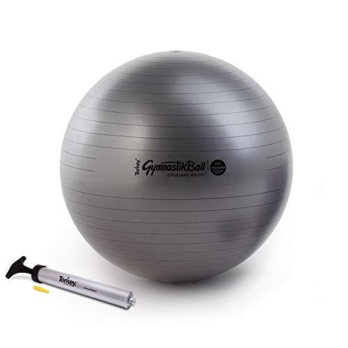 Pezzi Ball Maxafe 65 cm schwarz inkl. Original Pezziball-Pumpe Gymnastikball Sitzball