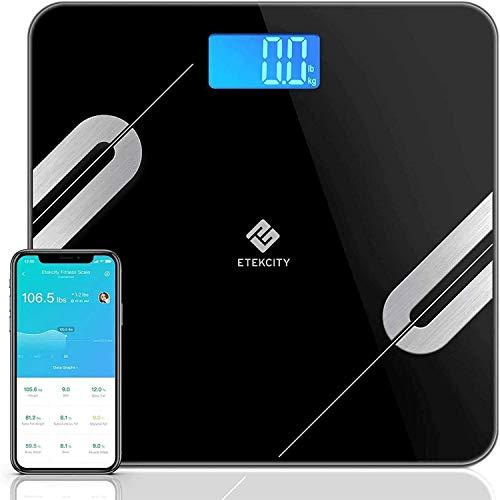 Etekcity Bluetooth Körperfettwaage Smart Digitale Waage mit APP für iOS & Android, Personenwaage...