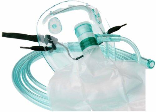 Sauerstoffmaske Hohe Konzentration DEHP-frei Sauerstoffmasken mit Reservoirbeutel f. Erwachsene 1...