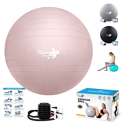 Gymnastikball mit Luftfußpumpe 55-75 cm - Anti-Burst-Unterstützung 2200 lbs Extra dicker...