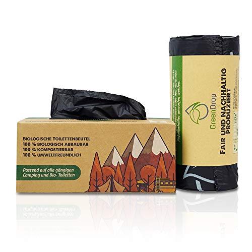 Green Drop ® Toilettenbeutel 40 Stück Limited Edition für Campingtoiletten, Biotoiletten, Mobile...