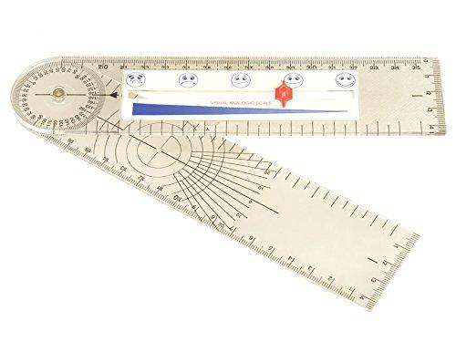 Gima - Goniometer mit Schmerzskalenlineal, Größe 203x45 mm