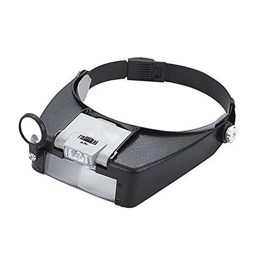 PHOEWON Vergrößerungsglas Stirnband Lupe Hände Frei Kopflupe Lupenbrille LED Juwelierlupe für...