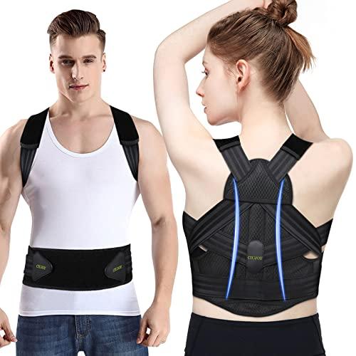CIUJOY Rücken Geradehalter,Neueste Upgrade Haltungskorrektur Verstellbar Atmungsaktiv Rücken...