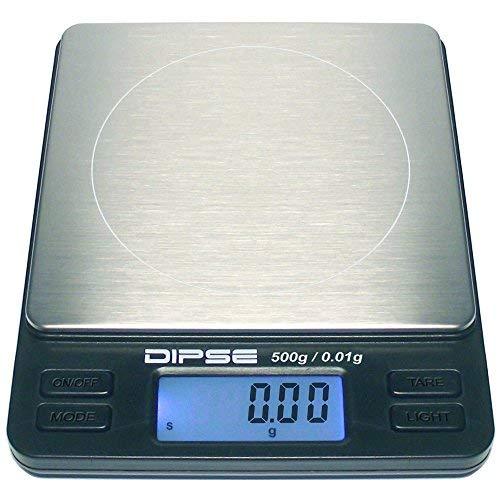 Dipse Digitale Laborwaage TP-500 x 0,01 - Feinwaage mit 0,01g genauer Auflösung Digitalwaage bis...