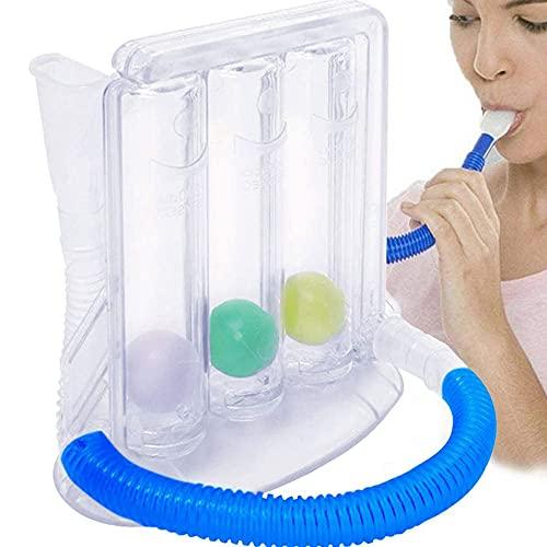 1 Satz von 3 Bällen Spiro-Meter Vital Breathing Trainer Tragbares Tiefenatmungsübungsgerät...