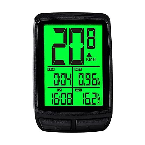 SUN JUNWEI Fahrrad-Computer-Fahrrad-Kilometerzähler und Tachometer, wasserdichte LCD-automatische...
