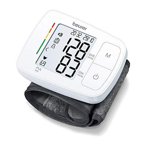 Beurer BC 21 Handgelenk-Blutdruckmessgerät, mit Sprachausgabe in Deutsch, Englisch, Französisch,...