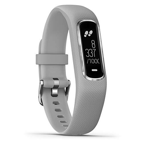 Garmin vívosmart 4 Fitness-Tracker - stilvolles Design, Herzfrequenzmessung am Handgelenk,...