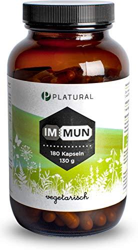 Platural® Immun - Vitamin C Zink Selen Magnesium Vitamin D E B6 + Holunder Acerola Acai -...
