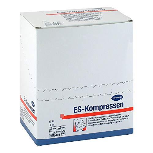 ES-KOMPRESSEN steril 7,5x7,5 cm 8fach 25X2 St