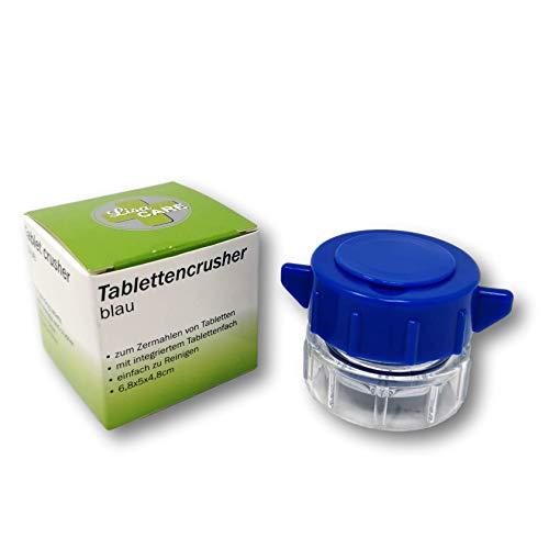 LisaCare Tablettenmörser drehen & Tabletten zerkleinern - Pillendose klein im Deckel - Pill crusher...