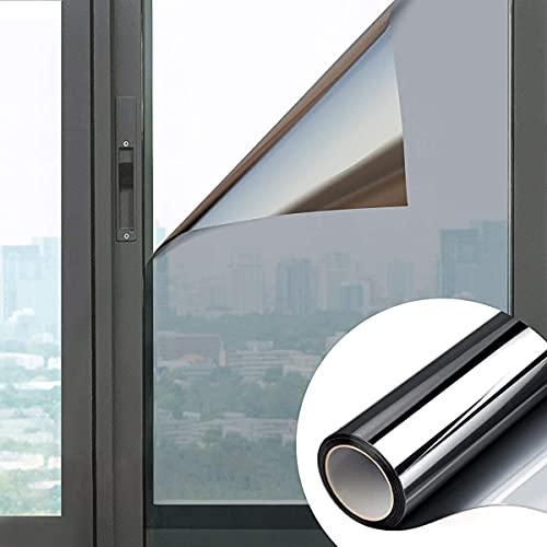 Ekoch Reflektierende Fensterfolie-Spiegelfolie selbstklebend-Wärmeisolierung Sonnenschutzfolie-99%...