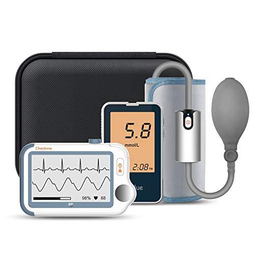 ViATOM Tragbarer Bluetooth EKG-Monitor, 24 Stunden Langzeit EKG, Sauerstoffsättigungsmonitor, mit...
