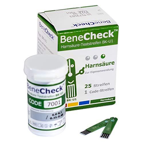 BeneCheck Harnsäure Teststreifen BK-U1-25 Stück pro Packung - Zur Verwendung mit dem BeneCheck...