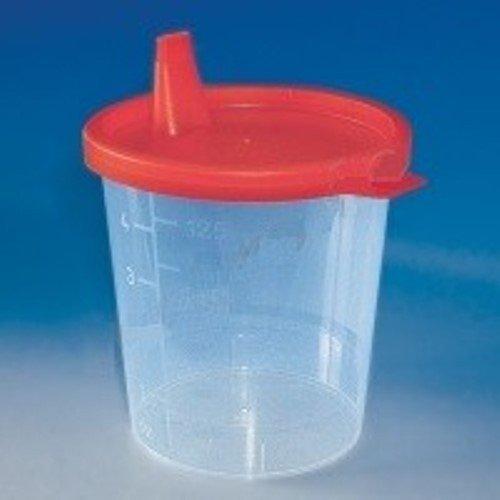Urinbecher 125 ml mit Schnappdeckelrot (100 Stck.)