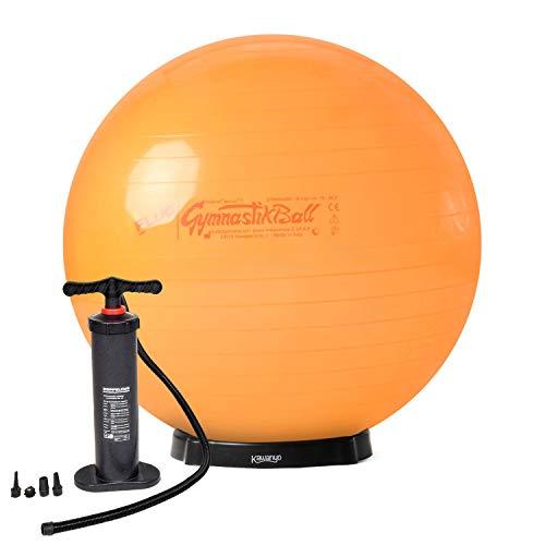 Original Pezzi® Gymnastikball STANDARD Fluo orange 75 cm mit Pumpe & Ballschale