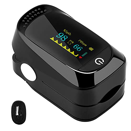 Pulsoximeter, Pulsmesser, Blutsauerstoffmessgerät Finger, Schmerzfreie Oximeter Fingerpulsoximeter...