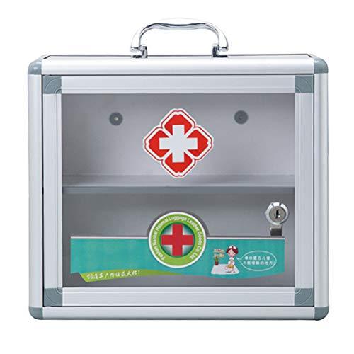 BSTCAR Hausapotheke mit Schloss, Medizinschrank Erste-Hilfe Kasten Aufhängbar Aufbewahrungskiste...