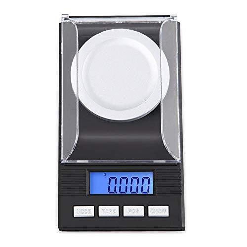 Fltaheroo Digitale Milligramm-Skala 100 x 0,001 G - mit -LCD-Display, Digitaler Taschenwaage,...