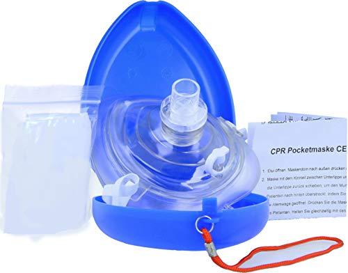 Horn Medical Notfall-Beatmungsmasken - Pocketmasken in einer handlichen blauen Box, Blau
