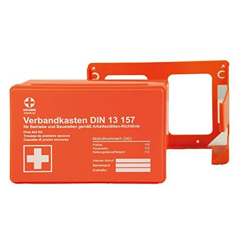 ACTIOMEDIC Mini-Verbandkasten für Unternehmen, inkl. Wandhalterung für stationären Gebrauch, DIN...
