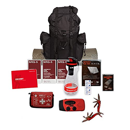 Ready24 Notfallrucksack Fluchtrucksack gefüllt Survival Set Überlebensrucksack