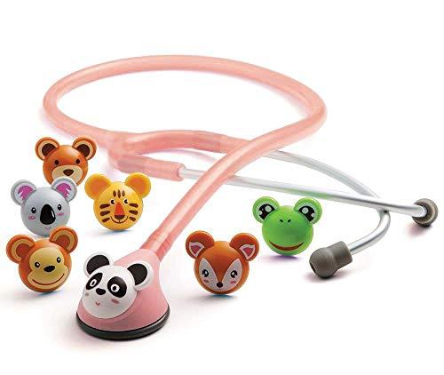 ADC Adscope 618P Adimals - Stethoskop mit verspieltem Design für Kinder, mit einstellbarer AFD...