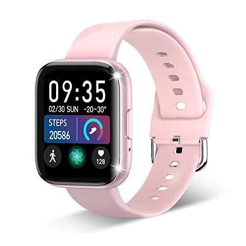 Smartwatch, Fitness Tracker für 1.55 Zoll Touch-Farbdisplay Fitness Armband Wasserdicht IP67,Smart...