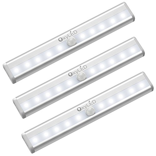 OxyLED LED Schrankbeleuchtung mit Bewegungsmelder,3 Stück LED Bewegungsmelder Schrankleuchten,Stick...