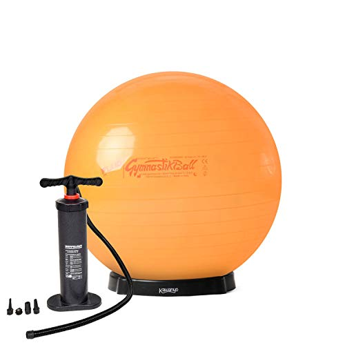 Original Pezzi® Gymnastikball STANDARD Fluo orange 53 cm mit Pumpe & Ballschale