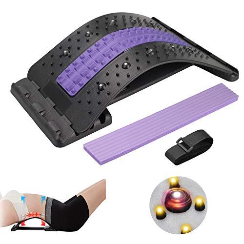 Karanice Back Stretcher Rückendehner Rückenstreckermit Magnetfeldtherapie Rückenmassage für...