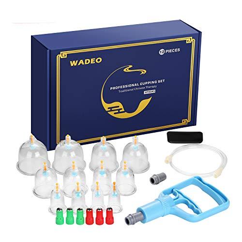 Schröpfen Set, 12 Stück Hochwertige medizinische Schröpfen mit Therapiemagneten, Schröpfgläser...