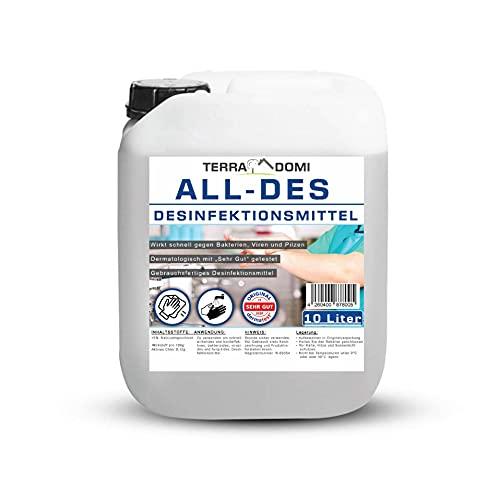 ***Preis-Leistungs-Sieger***TerraDomi All-Des 10 Liter Desinfektionsmittel ohne Parfüm für Hände...