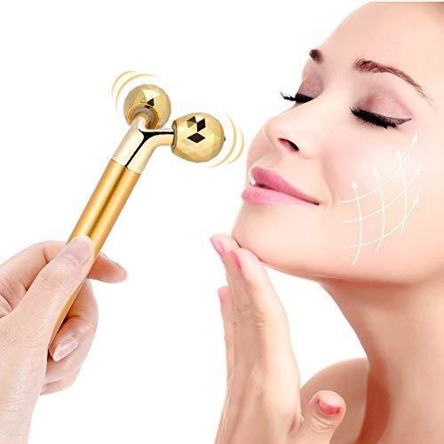 Elektrische Gesicht Massage Roller - 24 Karat Gold elektrische Gesicht festziehen Mikro-Strom...