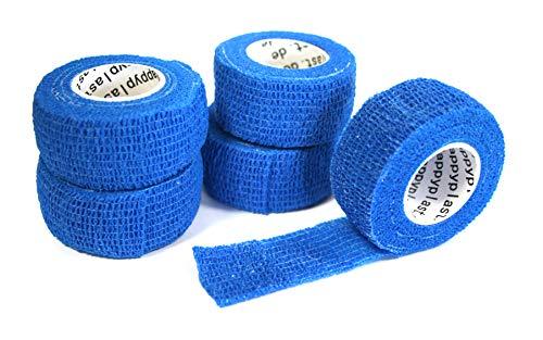 Happyplast Pflaster ohne Kleber (blau)   5 Stück Fingerpflaster wasserfest selbsthaftend elastisch...