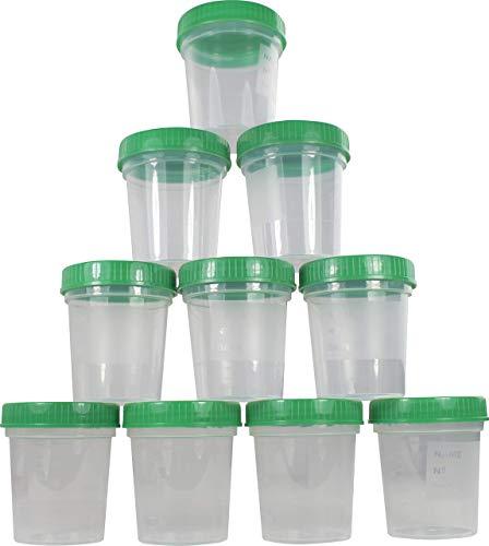 Urinbecher 125 ml + Schraubdeckel Farbe: Grün Urinprobenbecher Urin Becher Kunststoffbecher von...