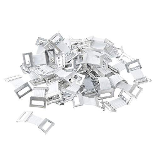 Verbandklammern mit Gummiband (Weiß (50 Stück))