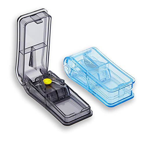 GeekerChip Tablettenteiler[2 Stück]pillenteiler,medikamententeiler,für Große und Kleine...