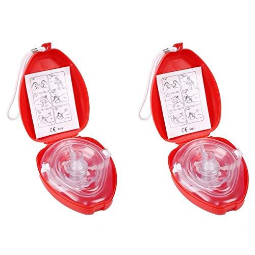 CPR Beatmungsmaske mit Filter,Lifesport 2 Stück CPR Tasche Rescue Maske mit aufgedruckter...