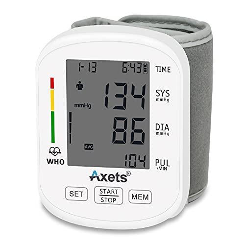 Automatisches digitales Handgelenk-Blutdruckmessgerät, unregelmäßiger Herztest,2 x 99 Speicher,...