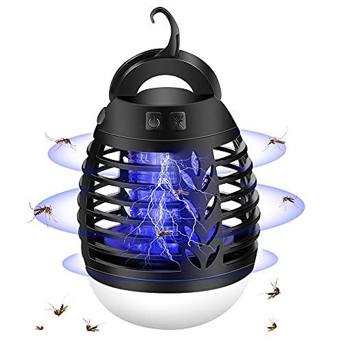 mixigoo Moskito Killer, 2-In-1 Elektrischer Insektenvernichter UV Bug Zappe USB Wiederaufladbar...