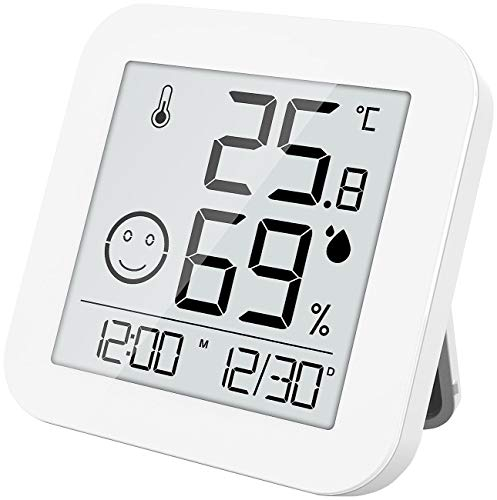 infactory Thermometer Hygrometer: Digitales E-Ink Thermo- und Hygrometer mit extralanger Laufzeit...