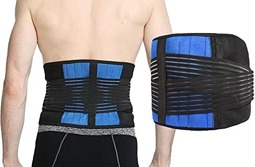Rrückenbandage mit Stützstreben und Verstellbare Zuggurte Rücken Gurt, Rückenstütze...