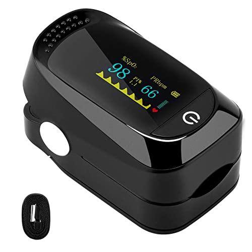 Pulsoximeter, Pulsmesser mit OLED-Anzeige, Oximeter Fingerpulsoximeter, Sauerstoffsättigung...